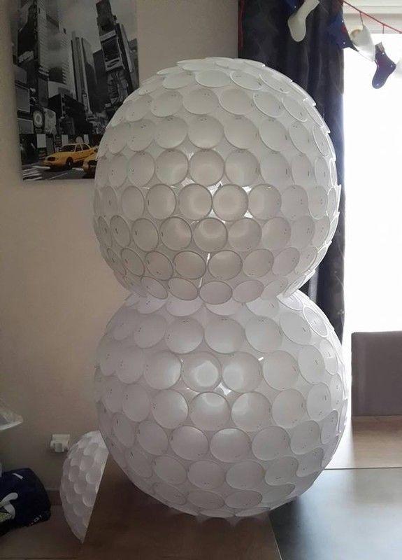 Bonhomme de neige - Comment faire un bonhomme de neige en gobelet ...